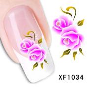Dalin 3D Nail Art Tips Stickers False Flower Nail Design Manicure Decals Nail Art Water Nail Art Decal / Tattoo / Sticker XF1034