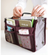 Handbag Pouch Bag in Bag Organiser Insert Organiser Tidy Travel Cosmetic Pocket Makeup Bag