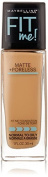 Maybelline New York Fit Me Matte Plus Poreless Foundation Makeup, Warm Honey, 1 Fluid Ounce by Maybeline New York