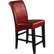 Metro Parsons Counter Stool 60cm , Crimson Red Leather