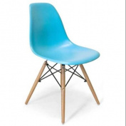 Dining Chair in Blue Matte Finish - Set of 2