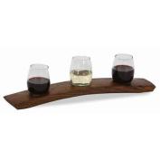 Wine Taster Flight in Dark Walnut Stain