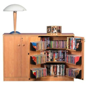 Oak TV Stand with Double Locking Cabinet, for TVs up to 110cm