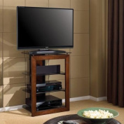 Bello Flat Panel TV Stand for TVs up to 80cm , Walnut/Smoke