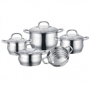 Concord Cookware Stainless Steel 9 Piece Cookware Set