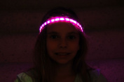 Glowby Bandz Light Strips for Headband, Wristband, Necklace, Anklet- White Strip Pink LEDs