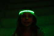 Glowby Bandz Light Strips for Headband, Wristband, Necklace, Anklet- White Strip Green LEDs