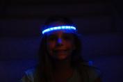 Glowby Bandz Light Strips for Headband, Wristband, Necklace, Anklet- White Strip Blue LEDs