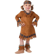 Fun World Costumes Baby Girl's Native American Toddler Girl Costume, Brown, Large(3T-4T) Size: Large (3T-4T) Colour