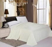 Elegant Comfort® #1 Best Seller Sherpa Blanket on Amazon LUXURIOUS Micro-Sherpa Ultra Plush Blanket , King, Vanilla