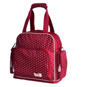 LCY Adjustable Space Back Pack Messenger Nappy Bag Red