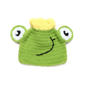 Elee Newborn Baby Frog Crochet Knit Hat Beanie Cap Earflap Photography Props