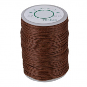 Brown 0.7mm 100m Linen Waxed Wax Thread Cord Sewing Craft for Leather Caft Stitching