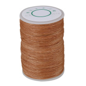 Light Brown 0.5mm Wax Polyester Twisted Cord Leather Sewing String 120 Metres Round Thread Line