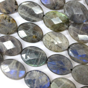 Faceted Natural Colour Genuine Labradorite Oval Real Gemstones Loose Beads for Jewerly Bracelet Making