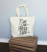 Call Me Boss Lady XL Tote in Natural Colour