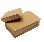 Teensery 100 Pages Brown Double-sided Kraft Message Card Kraft Paper Card Gift Name Label Tag Card Memo Note Pad