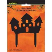 Plastic Haunted House Halloween Cake Topper