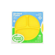 Green Eats 2 Pack Divided Plates, Yellow