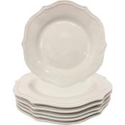 Better Homes and Gardens Scalloped Dinner Plates, White Set of 6