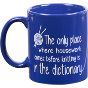 Knit Happy Blue Mug, Dictionary