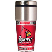 NCAA Louisville 470ml Travel Tumbler with Metallic Wrap