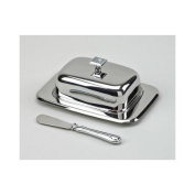 Creative Gifts International Glitter Galore Covered Butter Dish and Spreader
