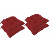 Micro Fibre Chair Pads with Tie Backs, Set of 4
