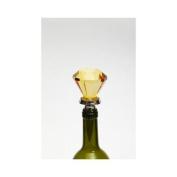 17cm Amber Yellow Glass Door Knob Wine Bottle Stopper