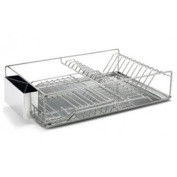 Just JSDD-1851275 Stainless Steel Dish Rack with Removeable Untensil Holder