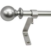 Montevilla Cafe Ball 1.3cm Telescoping Curtain Rod Set