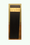 Shopping The Globe 70cm Tall MDF Floor Vase - Black & Gold Accent