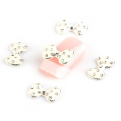 So Beauty 10pcs Cute Bow 3D Alloy Nail Art Slices Glitters Rhinestone DIY Decorations