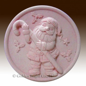 Santa and the Candy Cane - 2D silicone Soap/polymer/clay/cold porcelain mould