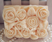 Creativemoldstore 1pcs Square Small Roses(zx78) Craft Art Silicone Soap Mould Craft Moulds DIY Handmade Soap Mould