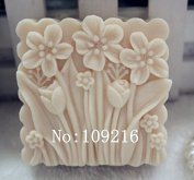 Creativemoldstore 1pcs Square Flowers (zx70) Craft Art Silicone Soap Mould Craft Moulds DIY Handmade Soap Mould
