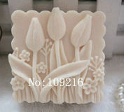Creativemoldstore 1pcs Small Tulips (zx71) Craft Art Silicone Soap Mould Craft Moulds DIY Handmade Soap Mould