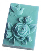 Longzang Rose Peace Dove Mould S359 Craft Art Silicone Soap Mould Craft Moulds DIY Handmade Candle Moulds