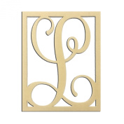 36cm L Monogram Capital Letter Unfinished DIY Wood Craft To Sell Ready to Paint Wood Wooden Cutout