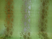 Vinyl Fuax Leather Snake Viper Fake Vinyl Leather Green Embossed Pattern Upholstery Fabric Sold By the Yard 140cm Wide