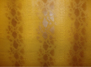 Vinyl Fuax Leather Snake Viper Fake Vinyl Leather Caramel Embossed Pattern Upholstery Fabric Sold By the Yard 140cm Wide