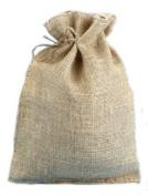 25cm X 36cm Burlap Bags with Drawstring - Lot of 40