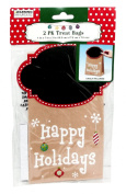 Happy Holidays Chalkboard Treat Bags, 2-Pack