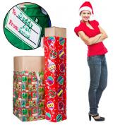 2 XL Christmas Holiday Gift Bags For Big Presents Set Tags Santa Christmas Lot