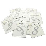 Self Adhesive Diamond Glitter Numbers 0-9