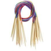 "Celine lin 18 sizes 40 inch""(100cm)Colourful Circular Bamboo Knitting Needles"