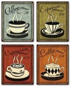 Retro Coffee Set by N. Harbick 20cm x 25cm Art Print Poster