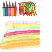 Dazzling Toys Rocket Balloons with Pump - 60 Balloons
