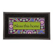 Evergreen Flag & Garden Sassafras Bless This Home Decorative Insert Mat