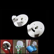 2pcs Smile Face Suction Cup Holder Razor Stand Cup Hanger Plug Cord Organiser